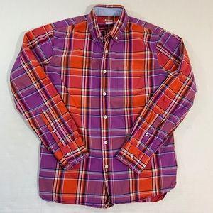 Bonobos Plaid Button Front Shirt Slim M